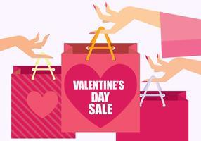 Venda Dia dos Namorados vetor