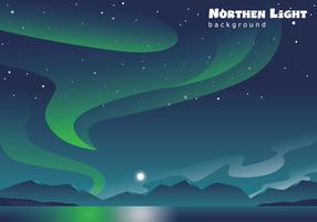 Luz do norte no lago vetor