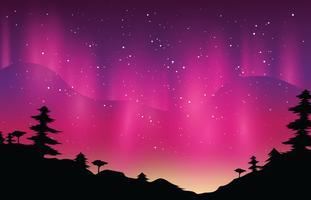 Aurora Boreal Magenta vetor