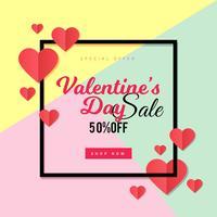 Fundo de venda do dia dos namorados vetor