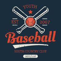 Vector de torneio de beisebol vintage