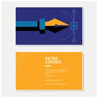 Cartão de visita criativo da ilustração da pena vetor