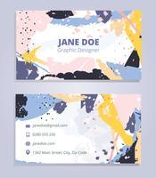 Vector de cartão de visita de design gráfico