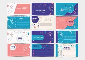 Cartão de visita de design gráfico Vol 2 Vector