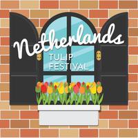Festival holandês das tulipas vetor