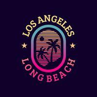Vintage Los Angeles, cores de néon vetor
