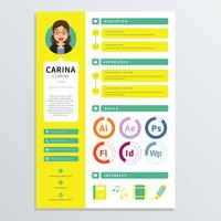 Modelo de currículo de designer gráfico vetor