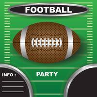 Convite do partido de futebol vetor