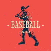 vetor vintage baseball