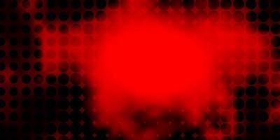 layout de vetor vermelho escuro com círculos.