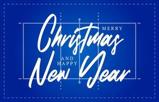 Natal e ano novo voleibol campo cartão com letras. fundo de campo de voleibol criativo para a celebração do Natal e ano novo. cartão do esporte vetor
