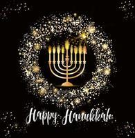 fundo hanukkah feriado judaico vetor