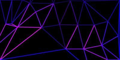 modelo de mosaico de triângulo de vetor roxo claro.