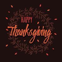 cartão de feliz dia de ação de Graças com elementos decorativos florais, design colorido. vetor
