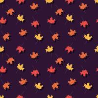Outono padrão sem emenda com elementos decorativos florais, design colorido. vetor