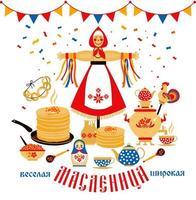 com o tema do feriado de carnaval russo