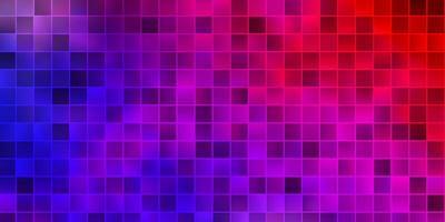 layout de vetor azul e vermelho claro com linhas, retângulos.