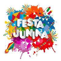 festa junina vila festival na américa latina vetor
