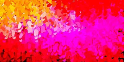 textura de vetor rosa claro, amarelo com formas de memphis.