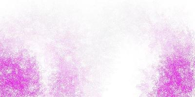 pano de fundo vector rosa claro com formas caóticas.