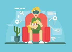 Vetor da experiência da realidade virtual