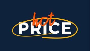 rótulo de qualidade premium de preço quente do grunge. etiqueta de ilustração vetorial moderna para compras, comércio eletrônico, promoção de produtos, adesivos de mídia social, marketing