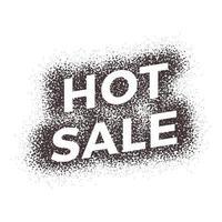 rótulo de qualidade premium de venda quente grunge. etiqueta de ilustração vetorial moderna para compras, comércio eletrônico, promoção de produtos, adesivos de mídia social, marketing