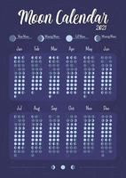 design da página do planejador criativo do calendário da lua vetor