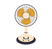 ventilador elétrico de vetor isolado no fundo. aparelhos domésticos para refrigeração e condicionamento do ar, controle do clima. ilustração vetorial no apartamento