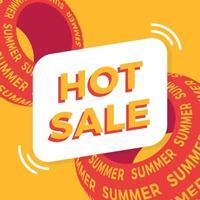 banner de oferta especial de venda de verão quente para negócios, promoção e publicidade. ilustração vetorial.