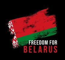 ilustração vetorial a liberdade de inscrição para a Bielorrússia no contexto da bandeira. o símbolo da liberdade na bielorrússia. cores nacionais da bielorrússia
