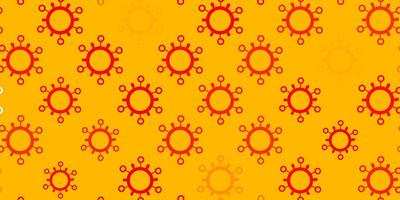 modelo de vetor laranja claro com sinais de gripe
