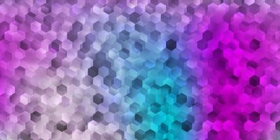 textura vector rosa claro, azul com formas de memphis.