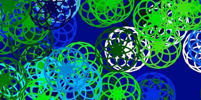 layout de vetor azul claro e verde com formas de círculo.