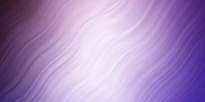 pano de fundo vector roxo claro com curvas.