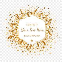 Fundo de Transparência de Confetes de Ouro