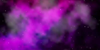 textura vector rosa escuro com belas estrelas.