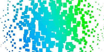 modelo de vetor azul claro e verde com retângulos.