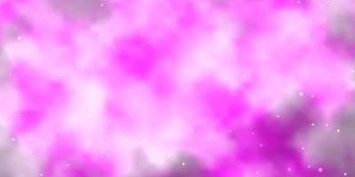 fundo vector rosa claro com estrelas coloridas.