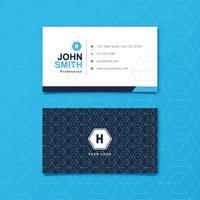 Cartão de visita de design gráfico geométrico azul vetor