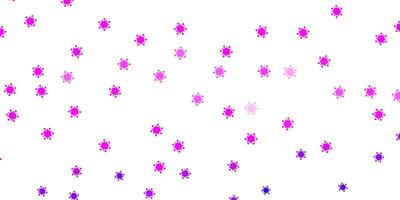 modelo de vetor roxo claro com sinais de gripe.