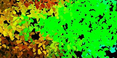 textura de vetor multicolorido escuro com formas de memphis.