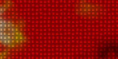 layout de vetor de luz vermelha e amarela com linhas, retângulos.