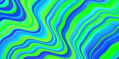 modelo de vetor azul e verde claro com curvas.