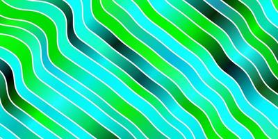 layout de vetor de azul claro e verde com curvas.
