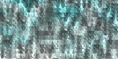 layout de vetor de azul claro com linhas, triângulos.