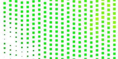 layout de vetor verde e amarelo claro com linhas, retângulos.