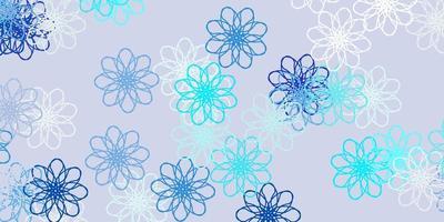 cenário natural de vetor azul claro com flores.