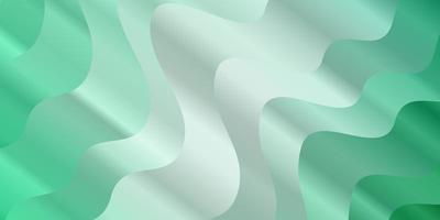 padrão de vetor verde claro com curvas.