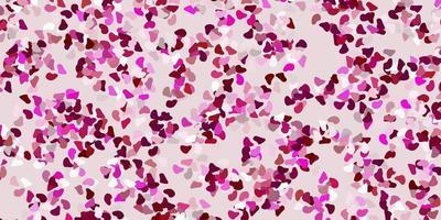 fundo vector rosa claro com formas aleatórias.